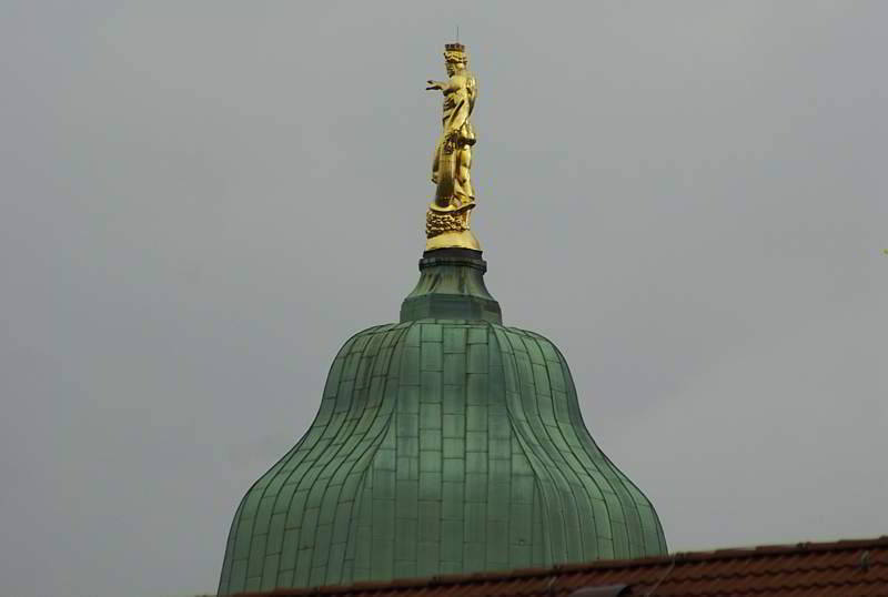 Goldener Rathausmann in Dresden